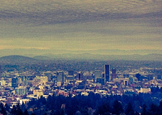 An over-filtered photo of Portland, Ore., which I took this fall at Pittock Mansion.