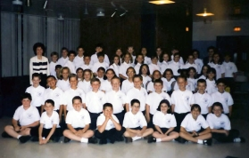 1999: My first year in the IC Grade School band. I'm in the first row, second from right.
