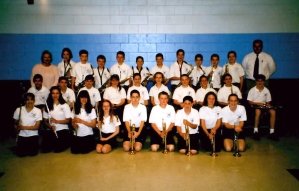 2002: Last year in the band. (Me: First row, far left)