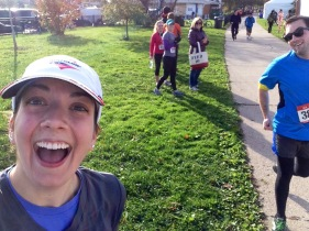 surprise selfie with the fastest race walker in Chicago (or something)