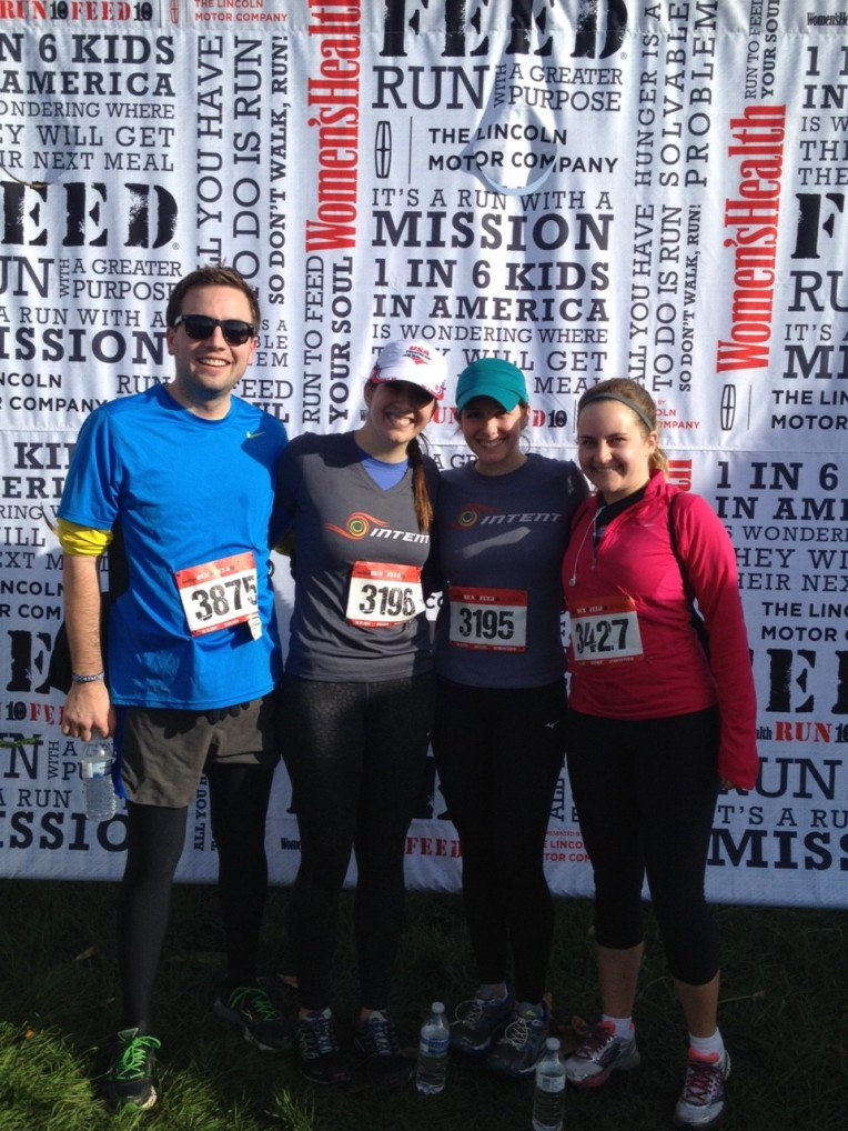 Matt, me, Erin & Ellen, 10K finishers and hunger-fighters.