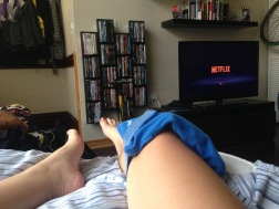 icy knee. and netflix.