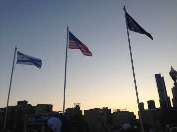 flag raising at the opening ceremonies.