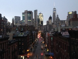 view from the manhattan bridge, overlooking chinatown